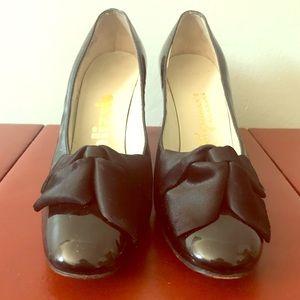 Vintage Palizzio Patent Leather Bow Pump